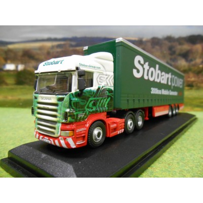 OXFORD 1:76 EDDIE STOBART SCANIA TOPLINE & 40FT CURTAINSIDER TRAILER