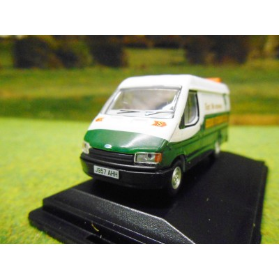 OXFORD 1:76 EDDIE STOBART FLEET MAINTENANCE FORD TRANSIT MARK 3 LWB VAN