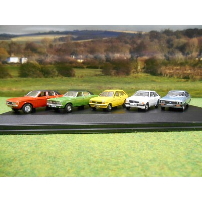 OXFORD 1:76 BRITISH FORD CAR GIFT SET (5 CARS)