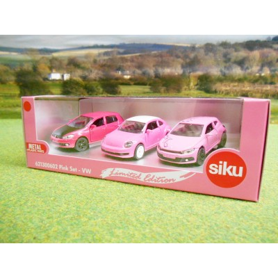 SIKU 1:55 LIMITED EDITION PINK VOLKSWAGEN CAR GIFT SET
