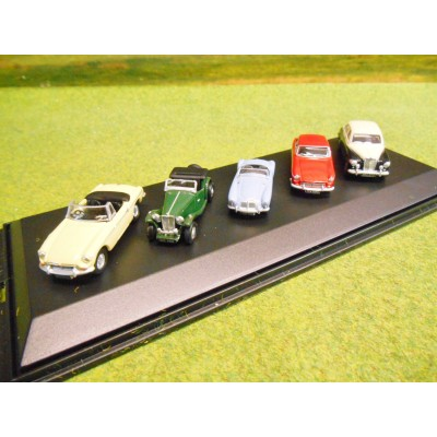 OXFORD 1:76 5 CAR BRITISH MG GIFT SET MGB MGA