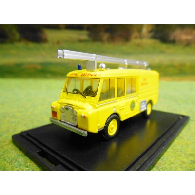 OXFORD 1:76 LANDROVER FT6 CARMICHAEL FIRE APPLIANCE CIVIL DEFENCE