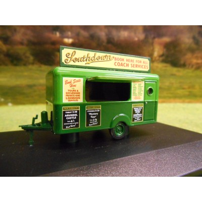 OXFORD 1:76 SOUTHDOWN BUSES MOBILE BOOKING OFFICE TRAILER