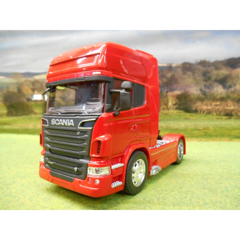 welly 1 32 scania v8 r730 tractor unit truck red one32 farm toys and models. Black Bedroom Furniture Sets. Home Design Ideas
