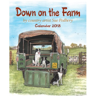 DOWN ON THE FARM 2018 WALL CALENDAR BY SUE PODBURY