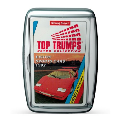 TOP TRUMPS - EXOTIC CARS RETRO LIMITED EDITION CARD GAME