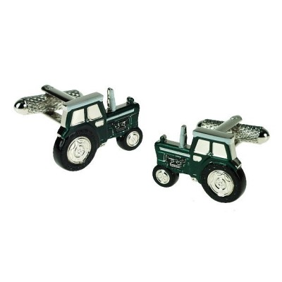 GREEN TRACTOR CUFFLINKS IN GIFT BOX