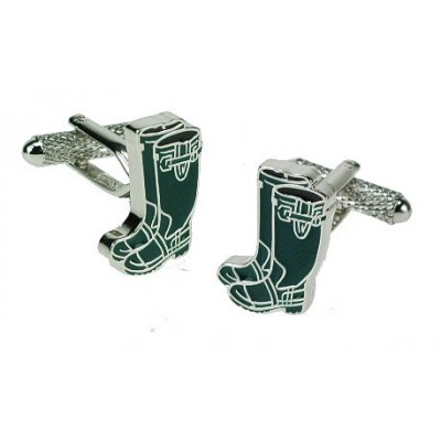 GREEN WELLIES CUFFLINKS IN GIFT BOX