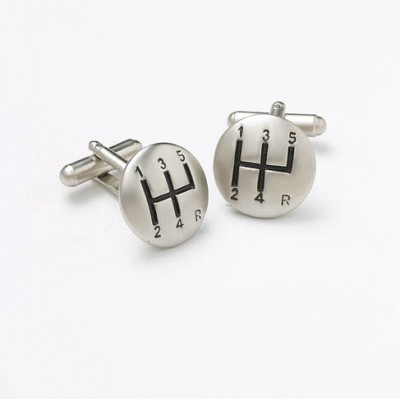 GEAR KNOB CUFFLINKS IN GIFT BOX