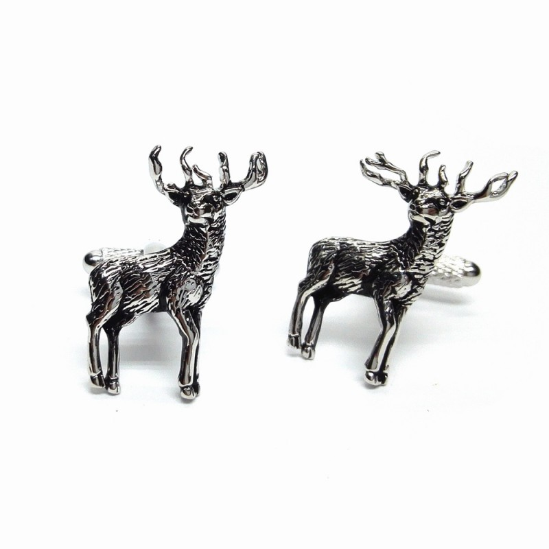 stag cufflinks in gift box