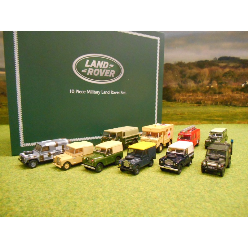OXFORD 1:76 LAND ROVER 10 PIECE MILITARY VEHICLE SET