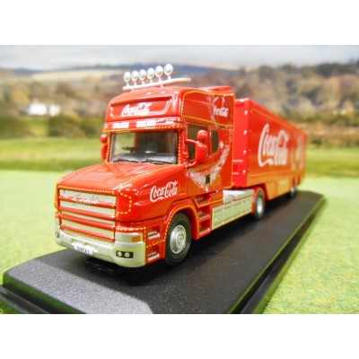 OXFORD OFFICIAL COCA COLA SCANIA T CAB SANTA CHRISTMAS TRUCK 1:76