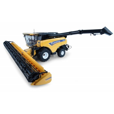 UNIVERSAL HOBBIES 1:32 NEW HOLLAND WHEELED CR10.90 COMBINE WITH 34CM HEADER
