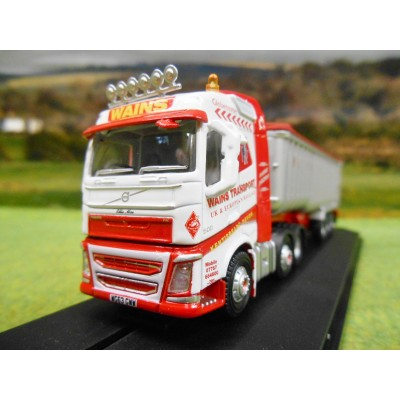 OXFORD 1:76 WAINS TRANSPORT VOLVO FH4 ARTIC BULK TIPPER