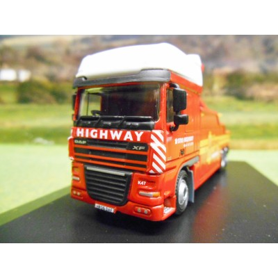 1:76 OXFORD DAF XF HIGHWAY RECOVERY WRECKER