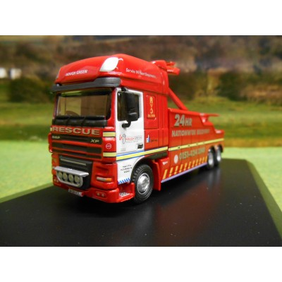 1:76 OXFORD DAF 105 HOUGH GREEN RECOVERY WRECKER