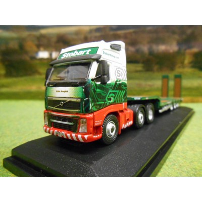 OXFORD 1:76 EDDIE STOBART RAIL SCANIA HIGHLINE & NOOTEBOOM 3 AXLE LOWLOADER