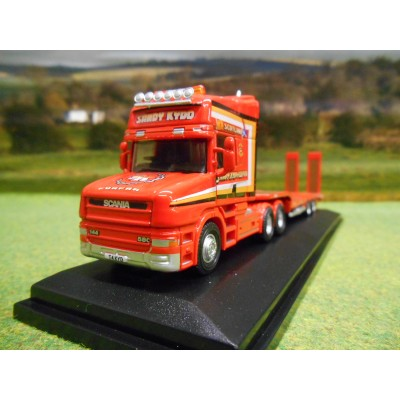 OXFORD 1:76 SANDY KYDD SCANIA T CAB & NOOTEBOOM 3 AXLE LOWLOADER
