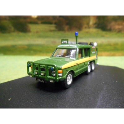OXFORD 1:76 6 WHEEL RANGE ROVER TACR2 RAF PINK PANTHER FIRE APPLIANCE