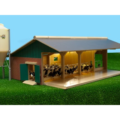 KIDS GLOBE 1:32 OPEN FRONT WOODEN CATTLE YARD FARM BUILDING MISSING CATTLE STALLS
