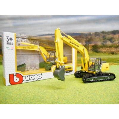 BURAGO 1/50 NEW HOLLAND E215C EXCAVATOR ON RUBBER TRACKS