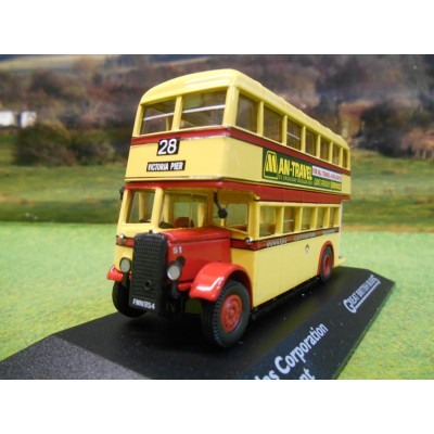 ATLAS CORGI 1/76 AEC REGENT DOUBLE DECKER BUS DOUGLAS CORPORATION