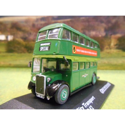ATLAS CORGI 1/76 CROSSLEY DD42 DOUBLE DECKER BUS LEEDS CITY TRANSPORT