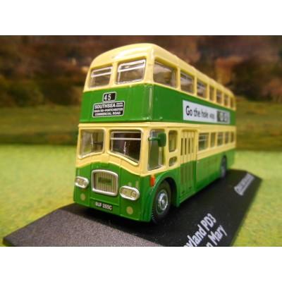 ATLAS CORGI 1/76 LEYLAND PD3 QUEEN MARY DOUBLE DECKER BUS SOUTHDOWN BUSES