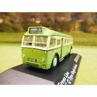 ATLAS CORGI 1/76 AEC Q TYPE SINGLE DECKER BUS GREEN LINE