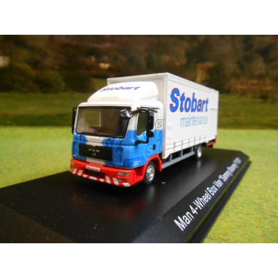 ATLAS OXFORD 1:76 STOBART MAINTENANCE MAN 4 WHEEL BOX VAN