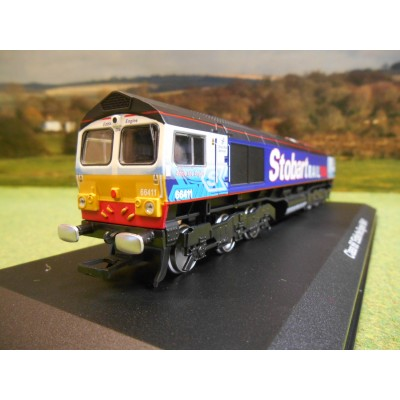 ATLAS OXFORD 1:76 STOBART RAIL CLASS 66 LOCOMOTIVE
