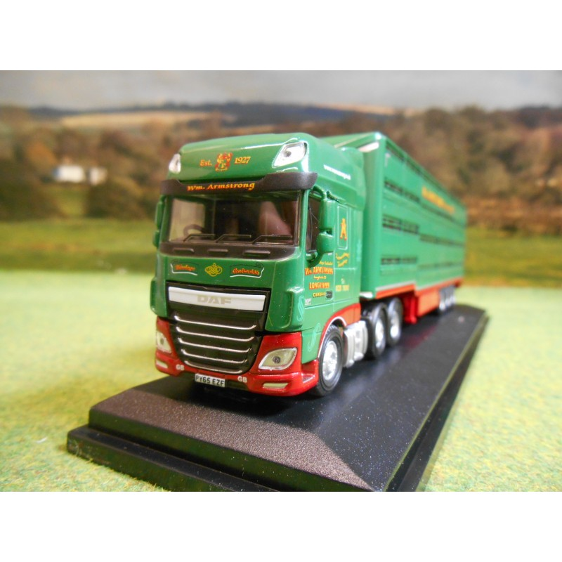 OXFORD 1:76 DAF XF EURO 6 & LIVESTOCK TRAILER W M ARMSTRONG