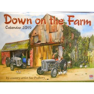 DOWN ON THE FARM 2019 WALL CALENDAR BY SUE PODBURY