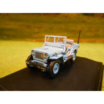 OXFORD 1:76 WILLY'S JEEP MB US NAVY SEEBEES
