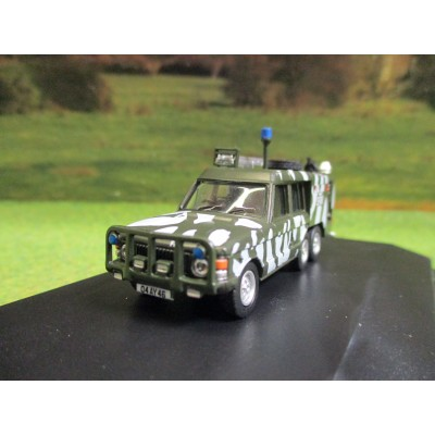 OXFORD 1:76 6 WHEEL RANGE ROVER TACR2 SFOR BOSNIA 1997 FIRE APPLIANCE