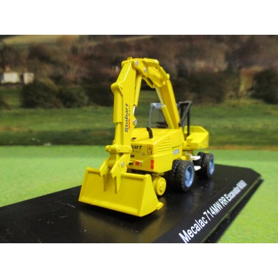 ATLAS OXFORD 1:76 STOBART RAIL MECALAC 714MM ROAD RAIL EXCAVATOR