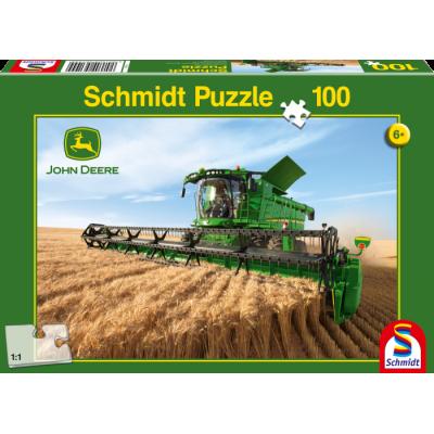 SCHMIDT JOHN DEERE TRACTOR & DISCS JIGSAW 200 PC