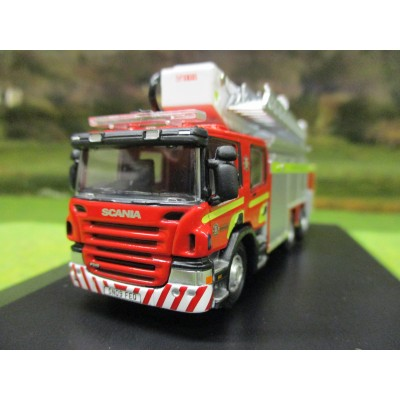 1:76 OXFORD SCANIA FIRE AERIAL RESCUE PUMP MID & WEST WALES