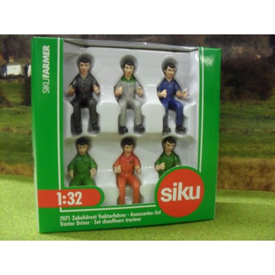 SIKU 1:32 TRACTOR DRIVERS PACK OF SIX