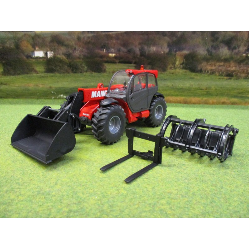 SIKU 1:32 MANITOU MLT840 TELEHANDLER SET WITH BUCKETS
