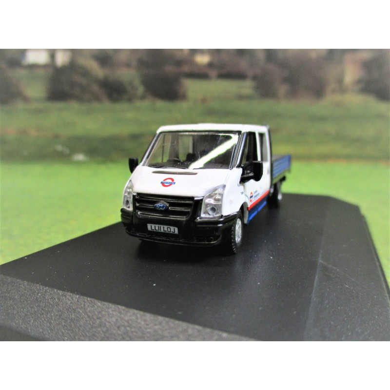 OXFORD 1:76 FORD TRANSIT CREWCAB DROP SIDE LONDON UNDERGROUND
