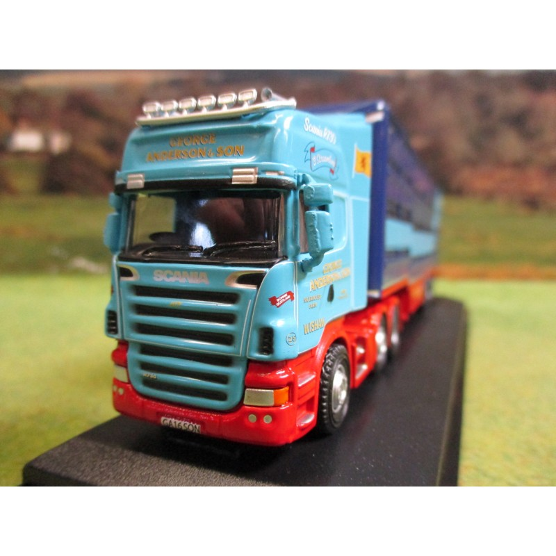 OXFORD 1:76 SCANIA & HOUGHTON PARKHOUSE LIVESTOCK TRAILER GEORGE ANDERSON & SON
