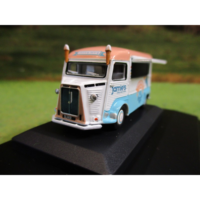 OXFORD 1:76 CITROEN H CATERING VAN JAMIES ITALIAN ICE CREAM
