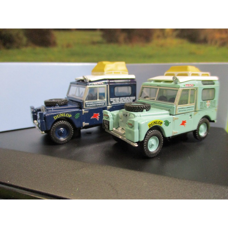 OXFORD 1:76 FIRST OVERLAND 1955 LAND ROVER 2 VEHICLE GIFT SET