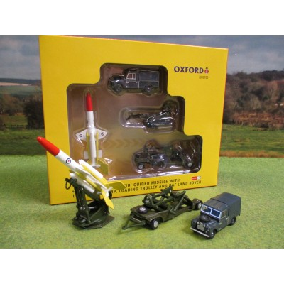 OXFORD 1:76 BRISTOL BLOODHOUND MISSILE SET WITH LAND ROVER