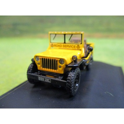 OXFORD 1:76 WILLY'S JEEP MB AA ROAD SERVICE