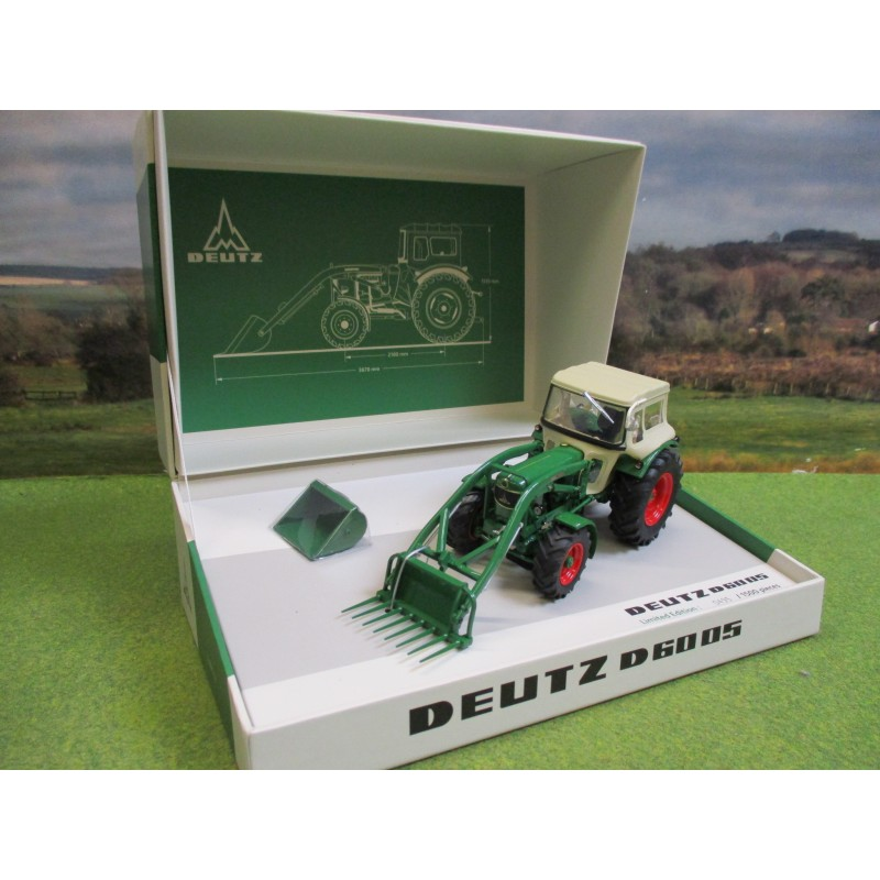 UNIVERSAL HOBBIES 1:32 DEUTZ FAHR D6005 4WD TRACTOR WITH CAB & LOADER SPECIAL EDITION