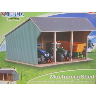 KIDS GLOBE 1:32 LARGE WOODEN TRACTOR BARN FOR SIKU & BRITAINS SIZE