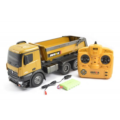 RADIO CONTROL HUINA 1/14 HALF PIPE TIPPER 6 WHEEL LORRY