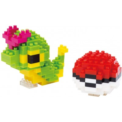NANOBLOCK® POKEMON CATERPIE & POKEBALL (210 + PIECES) MINI BUILDING BLOCKS